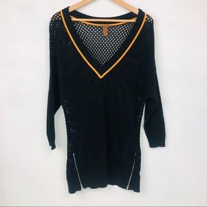 Copper Key Open knit Pullover top
